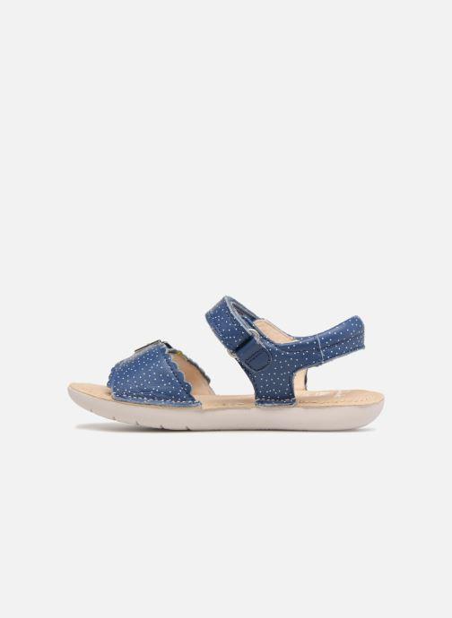 Sandales et nu-pieds Clarks Ivy Blossom Inf Bleu vue face