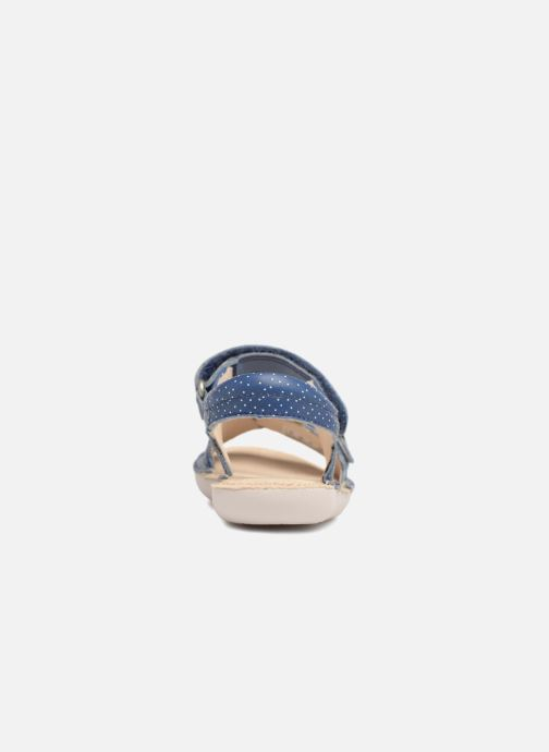 Sandales et nu-pieds Clarks Ivy Blossom Inf Bleu vue droite