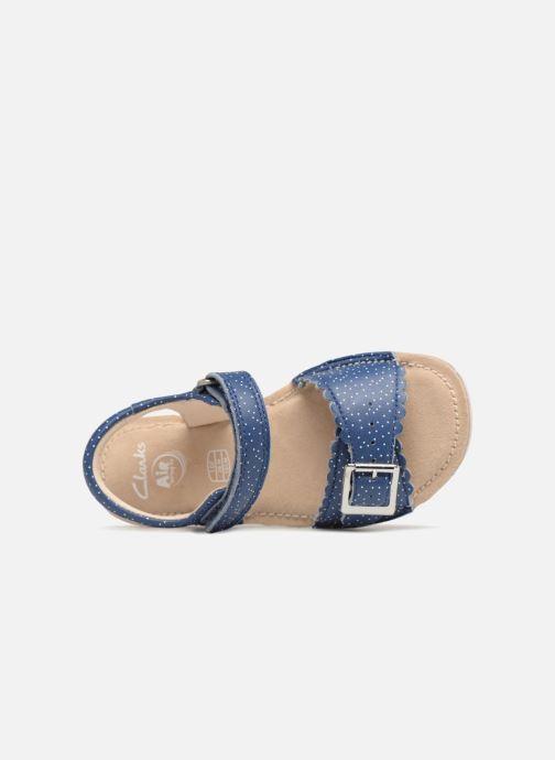 Sandales et nu-pieds Clarks Ivy Blossom Inf Bleu vue gauche