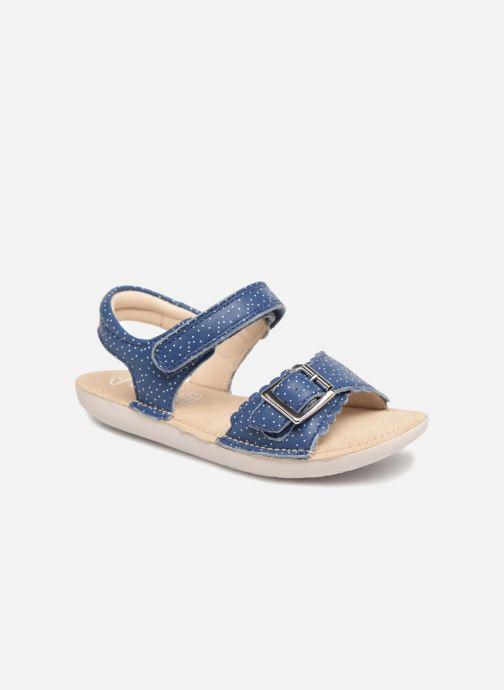 Sandales et nu-pieds Clarks Ivy Blossom Inf Bleu vue détail/paire