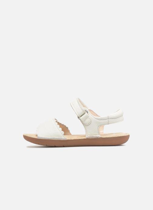 Sandales et nu-pieds Clarks Ivy Blossom Inf Blanc vue face