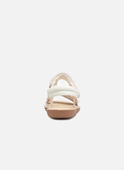 Sandales et nu-pieds Clarks Ivy Blossom Inf Blanc vue droite