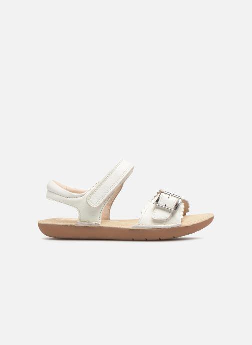 Sandales et nu-pieds Clarks Ivy Blossom Inf Blanc vue derrière