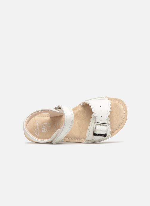 Sandales et nu-pieds Clarks Ivy Blossom Inf Blanc vue gauche
