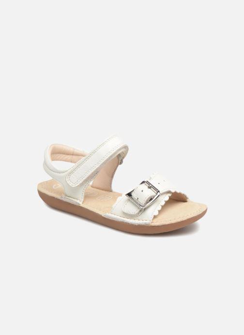 Sandales et nu-pieds Clarks Ivy Blossom Inf Blanc vue détail/paire