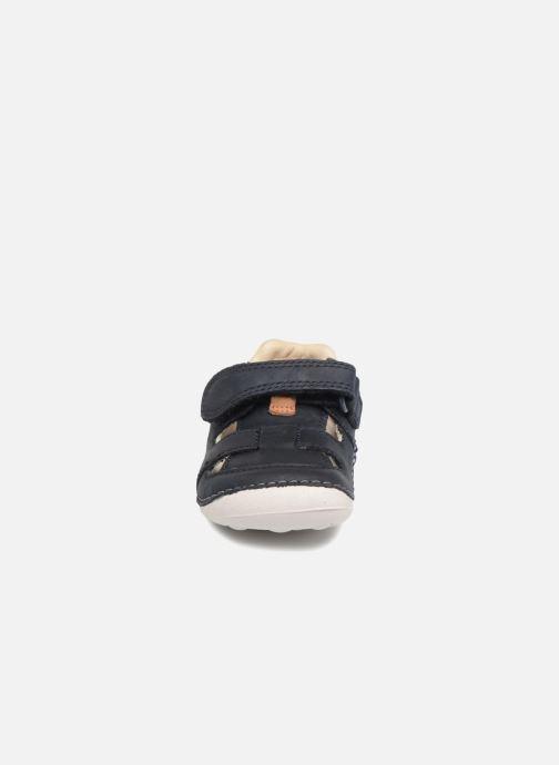 Bottines d'été Clarks Tiny Ash Bleu vue portées chaussures