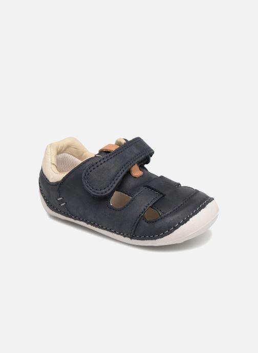 f29c87a2904d Sommersko Clarks Tiny Ash Blå detaljeret billede af skoene