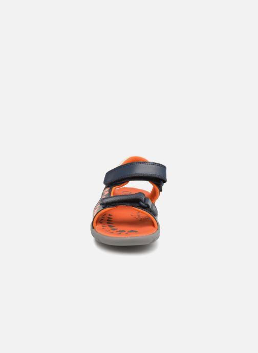 Sandales et nu-pieds Clarks Rocco Surf Bleu vue portées chaussures