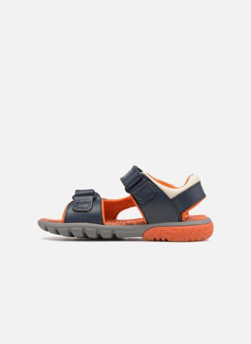 Sandales et nu-pieds Clarks Rocco Surf Bleu vue face
