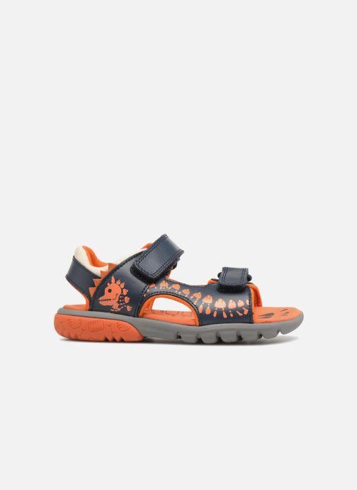 Sandales et nu-pieds Clarks Rocco Surf Bleu vue derrière