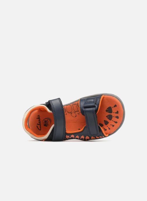 Sandales et nu-pieds Clarks Rocco Surf Bleu vue gauche