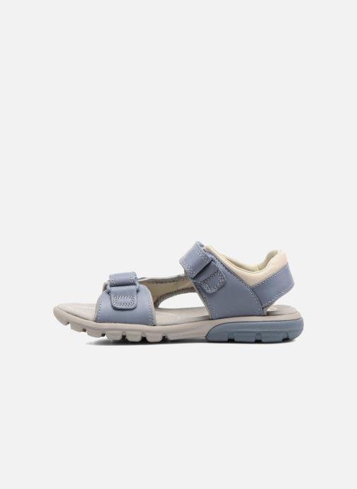 Sandales et nu-pieds Clarks Rocco Wave Bleu vue face