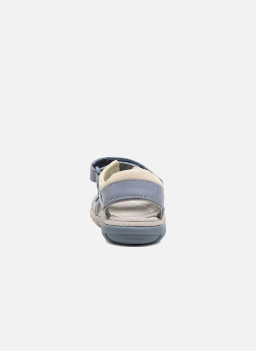 Sandales et nu-pieds Clarks Rocco Wave Bleu vue droite