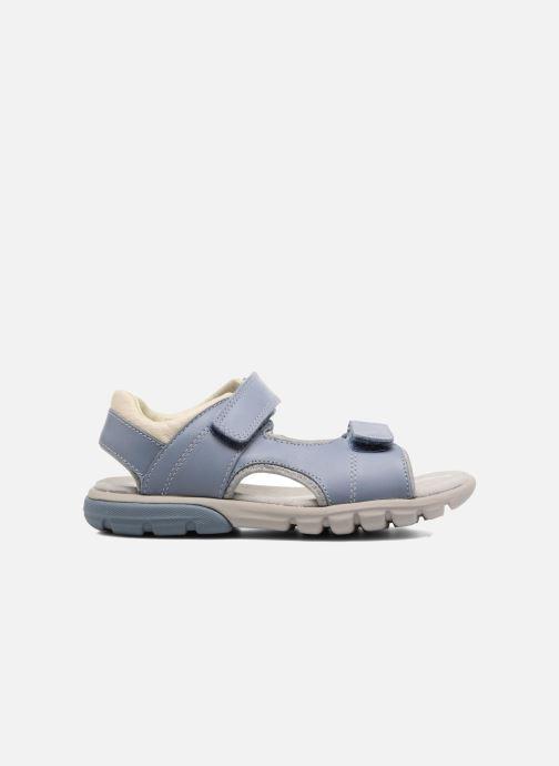 Sandales et nu-pieds Clarks Rocco Wave Bleu vue derrière