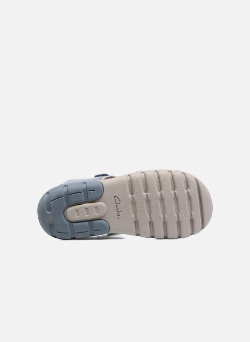 Sandales et nu-pieds Clarks Rocco Wave Bleu vue haut
