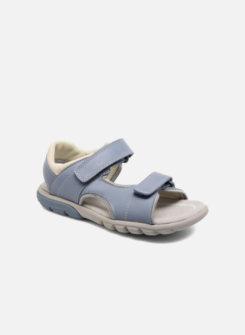 Sandales et nu-pieds Clarks Rocco Wave Bleu vue détail/paire
