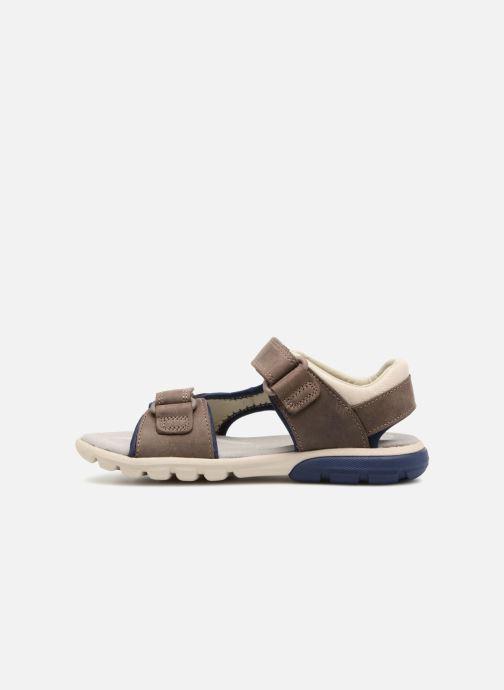 Sandales et nu-pieds Clarks Rocco Wave Marron vue face