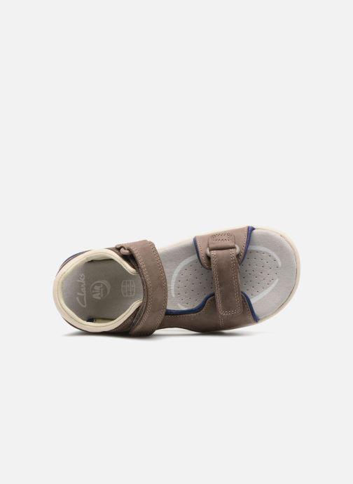 Sandales et nu-pieds Clarks Rocco Wave Marron vue gauche