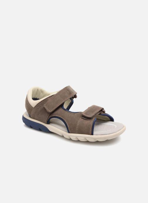 Sandales et nu-pieds Clarks Rocco Wave Marron vue détail/paire