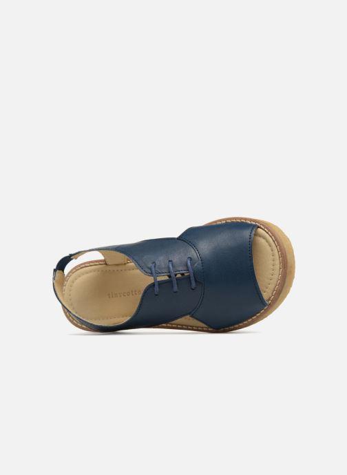 Sandali e scarpe aperte Tinycottons Crepe lace sandals Azzurro immagine sinistra
