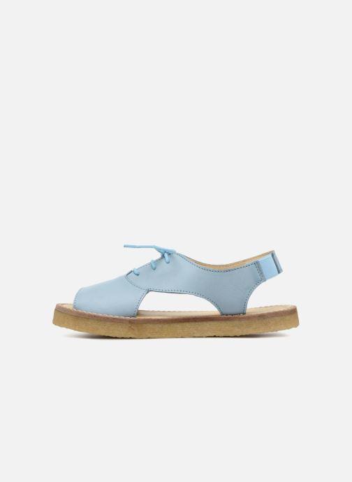 Sandalias Tinycottons Crepe lace sandals Azul vista de frente