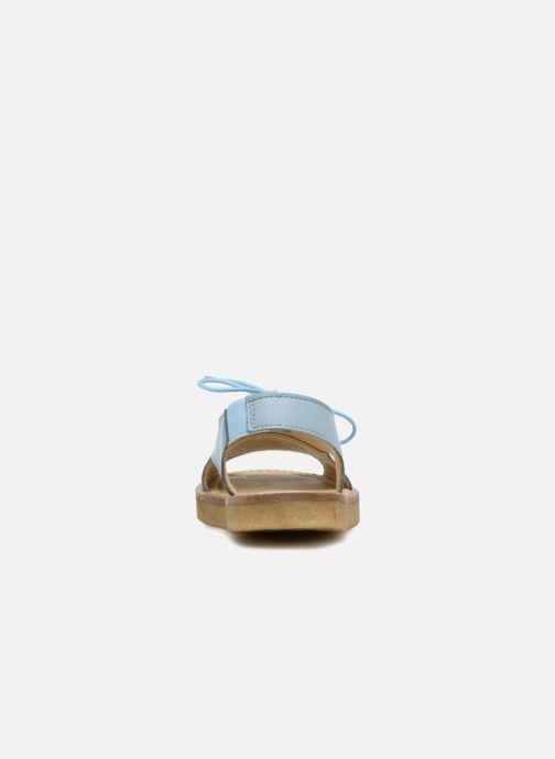 Sandalias Tinycottons Crepe lace sandals Azul vista lateral derecha