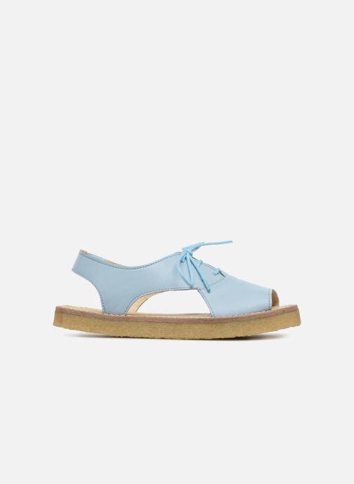Sandalias Tinycottons Crepe lace sandals Azul vistra trasera
