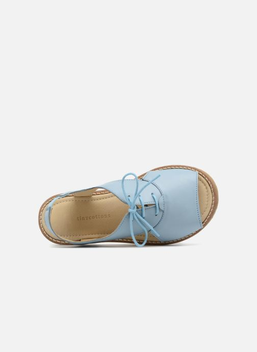 Sandalias Tinycottons Crepe lace sandals Azul vista lateral izquierda
