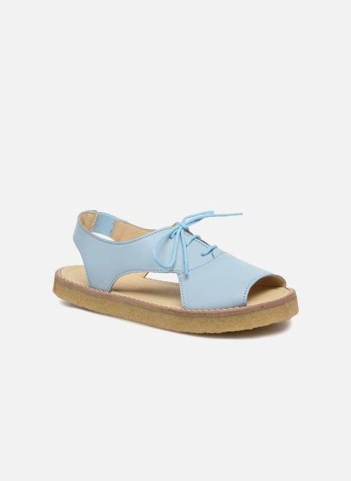 Sandalias Tinycottons Crepe lace sandals Azul vista de detalle / par