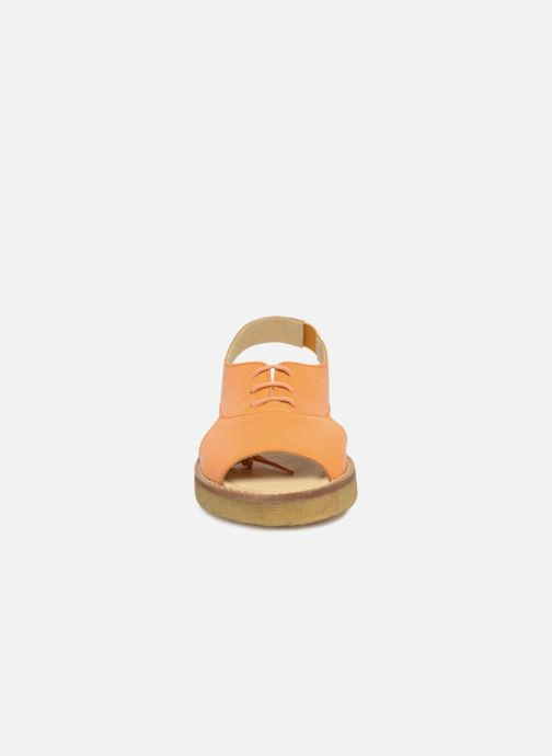 Sandalen Tinycottons Crepe lace sandals Oranje model