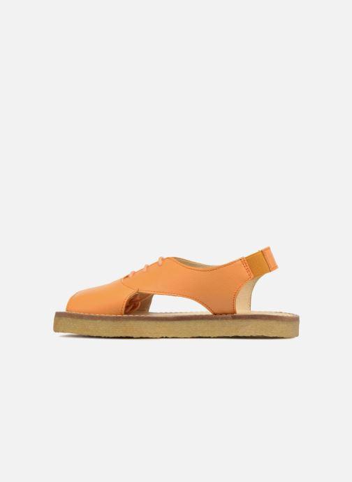 Sandales et nu-pieds Tinycottons Crepe lace sandals Orange vue face