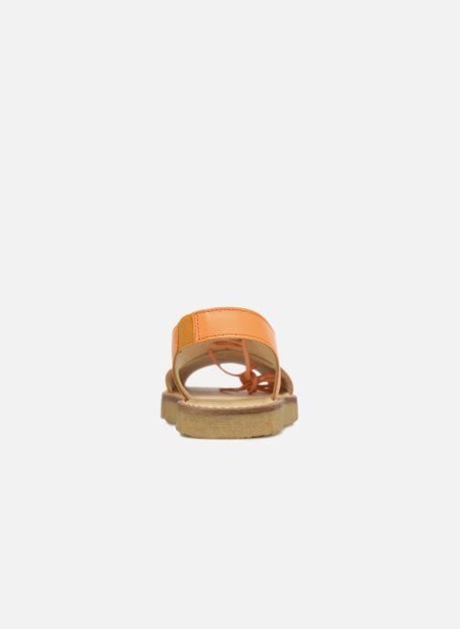 Sandali e scarpe aperte Tinycottons Crepe lace sandals Arancione immagine destra