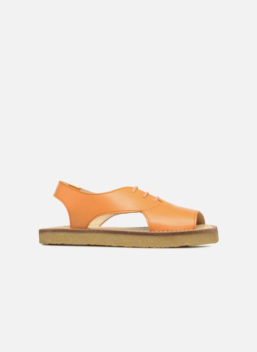 Sandales et nu-pieds Tinycottons Crepe lace sandals Orange vue derrière
