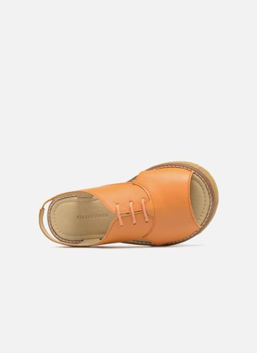 Sandali e scarpe aperte Tinycottons Crepe lace sandals Arancione immagine sinistra