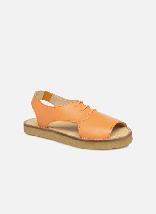 Sandales et nu-pieds Tinycottons Crepe lace sandals Orange vue détail/paire