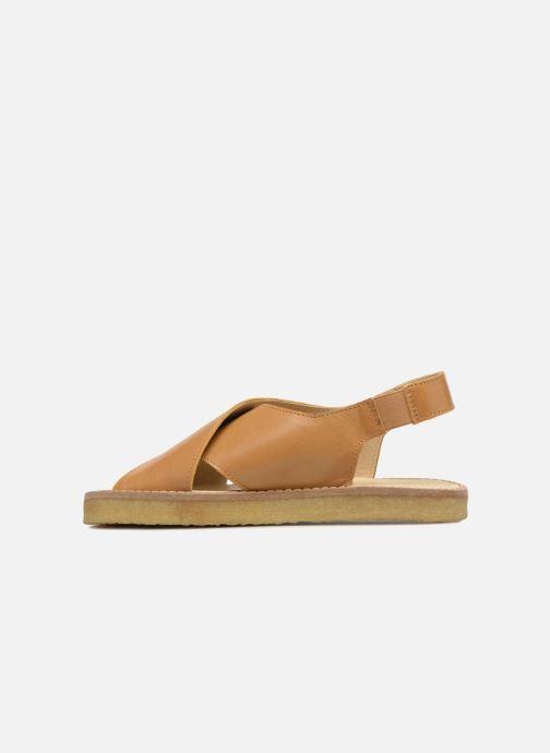 Sandalias Tinycottons Crepe cross sandals Marrón vista de frente