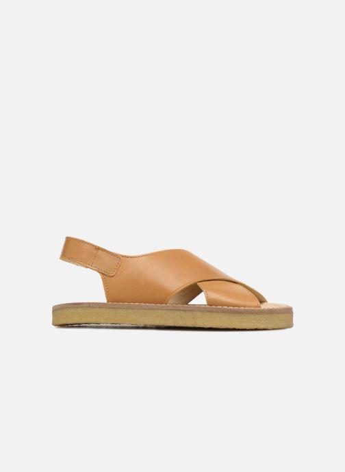 Sandalias Tinycottons Crepe cross sandals Marrón vistra trasera