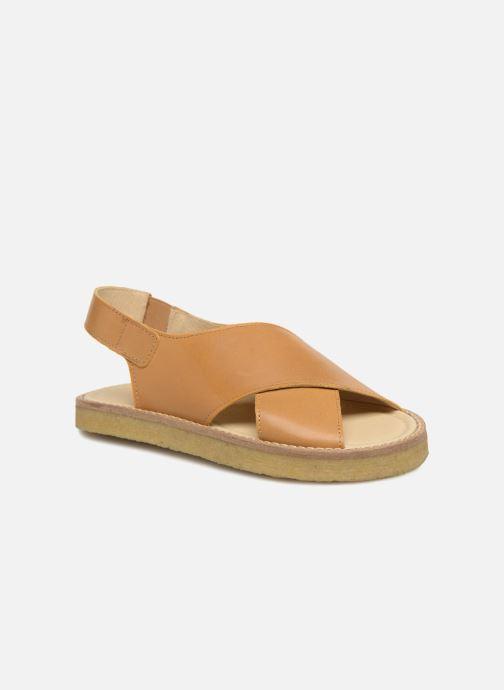 Sandalias Tinycottons Crepe cross sandals Marrón vista de detalle / par