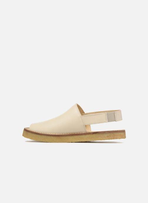 Sandali e scarpe aperte Tinycottons Crepe solid sandals Beige immagine frontale
