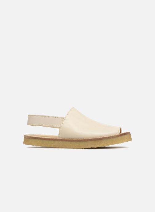Sandalias Tinycottons Crepe solid sandals Beige vistra trasera