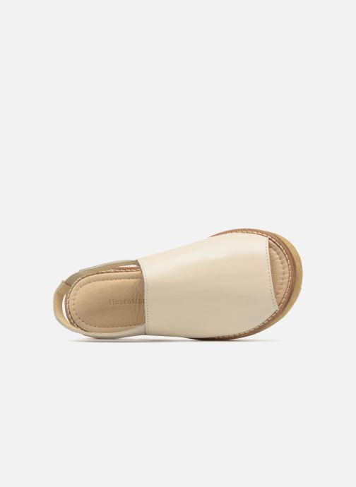 Sandalias Tinycottons Crepe solid sandals Beige vista lateral izquierda