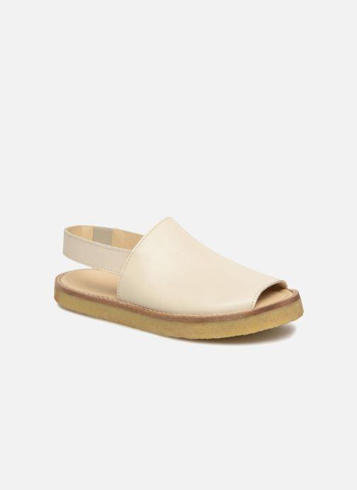 Sandalias Tinycottons Crepe solid sandals Beige vista de detalle / par