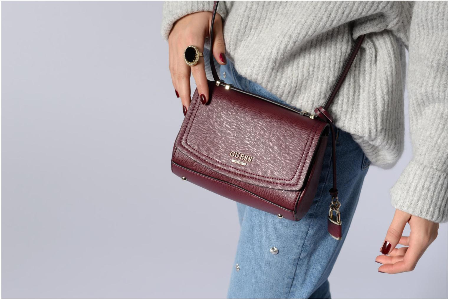 Sacs à main Guess Crossbody Bordeaux vue haut