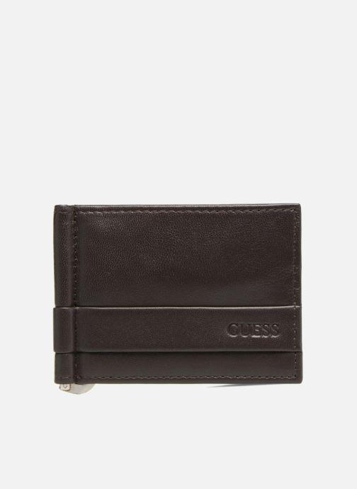 Kleine lederwaren Guess CARD CASE/DKB Bruin detail
