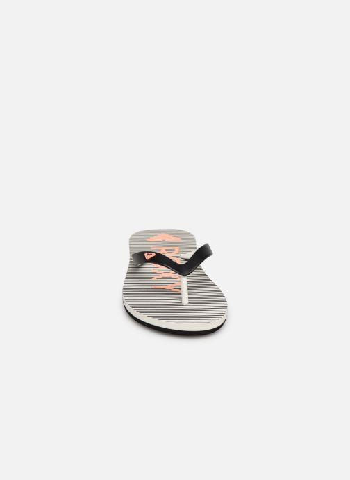 Tongs Roxy Rg Thaiti VI Gris vue portées chaussures