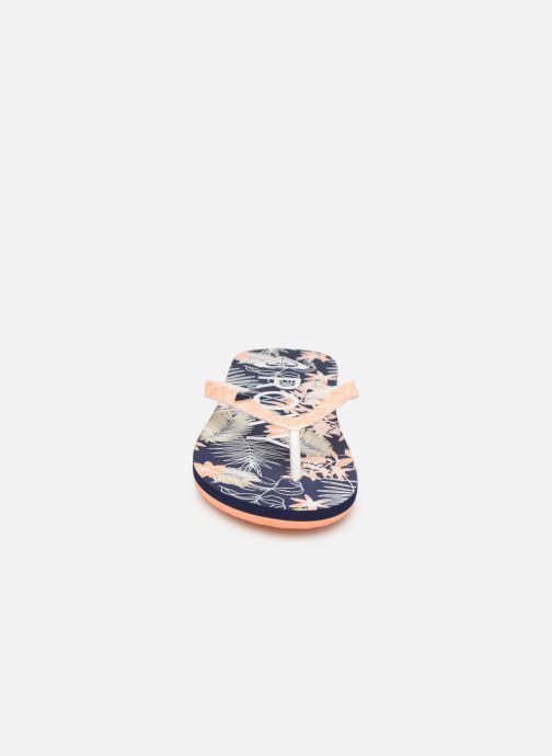 Tongs Roxy Rg Pebbles VI Bleu vue portées chaussures