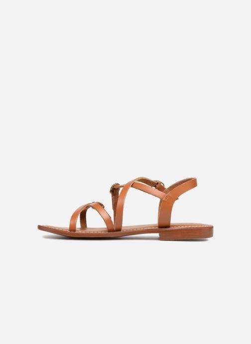Sandales et nu-pieds L'Atelier Tropézien Louise Marron vue face