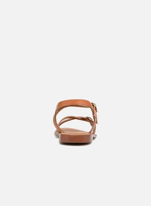 Sandales et nu-pieds L'Atelier Tropézien Louise Marron vue droite