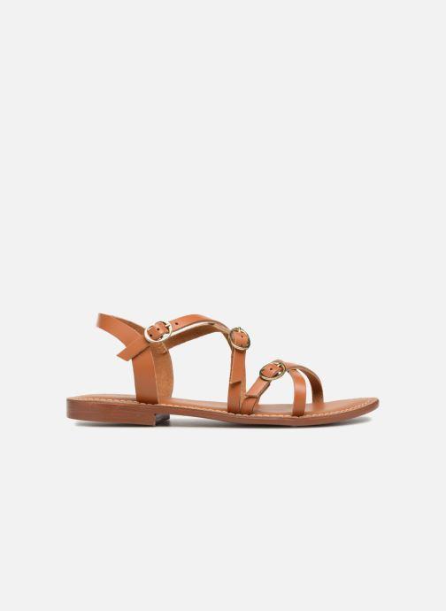 Sandales et nu-pieds L'Atelier Tropézien Louise Marron vue derrière