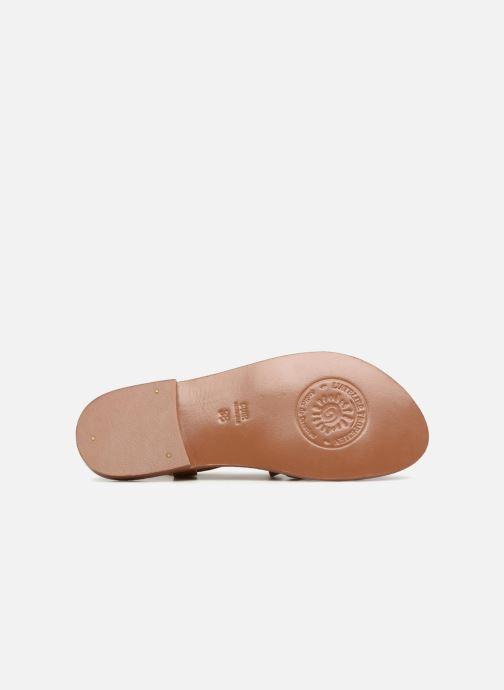 Sandales et nu-pieds L'Atelier Tropézien Louise Marron vue haut